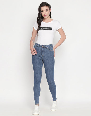 Vienna Mid Blue High Waist Jeans