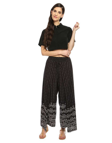 Bandhani Print Viscose Wrap Pants
