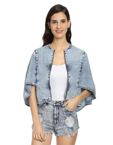 Blue Denim Cape Jacket