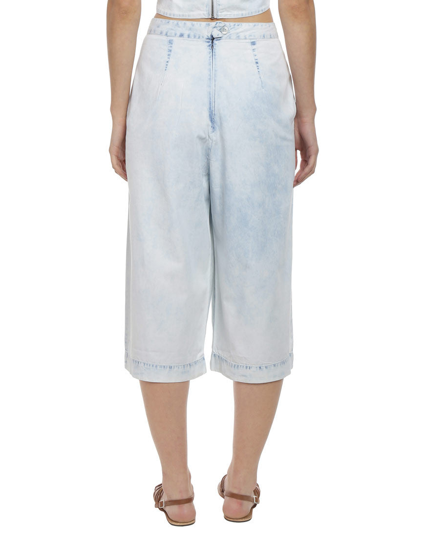 Light Blue Denim Culottes
