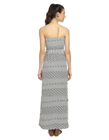 Buffalo Print Cotton Knit Maxi Dress