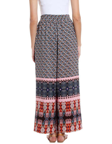 Geo Printed Woven Polyester Palazzo