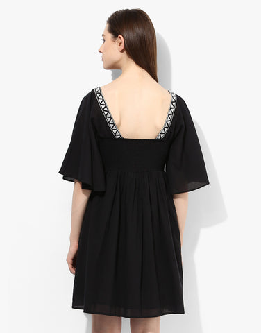 Black Emboidered Dress