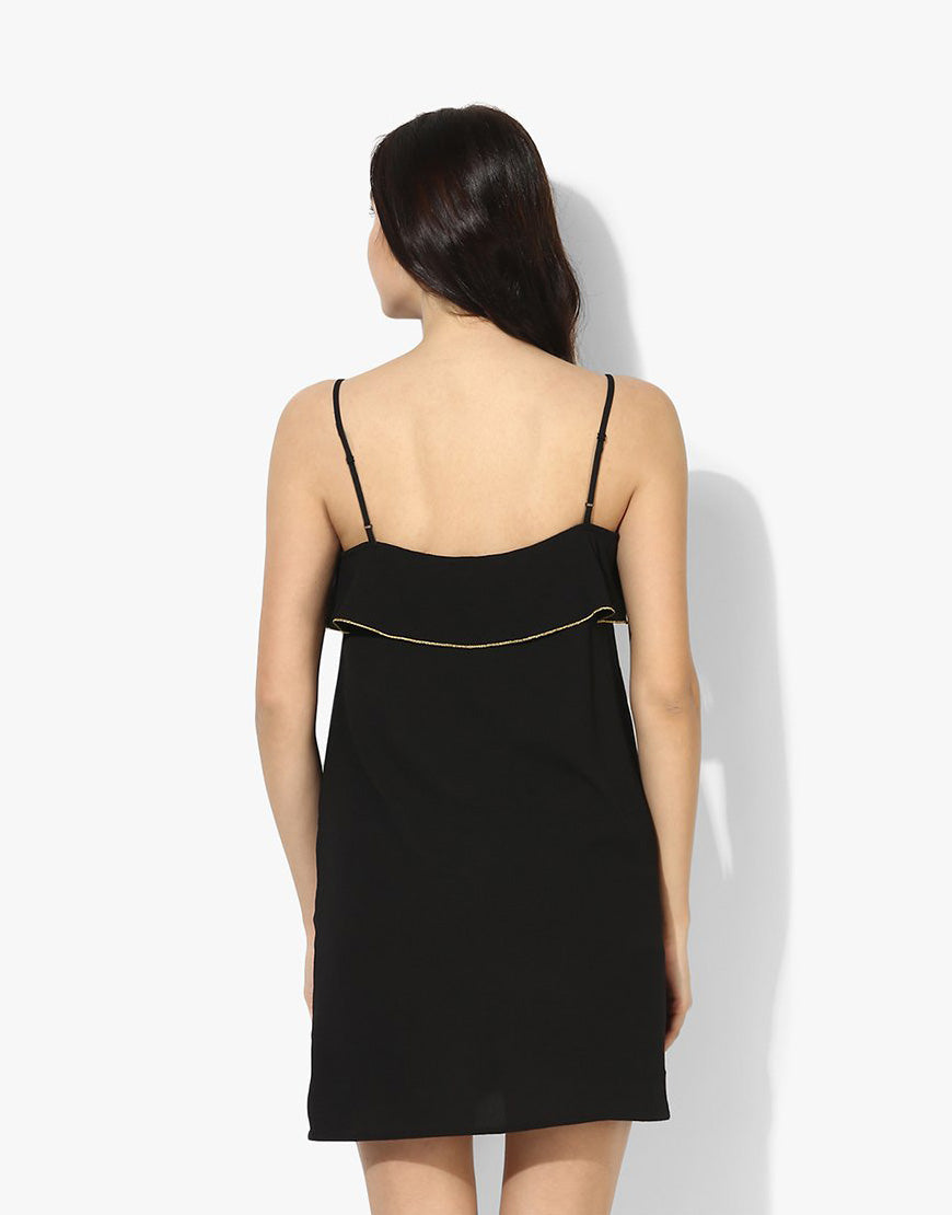 Black Moss Crepe Dress