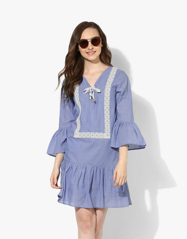 Blue Chambray Shift Dress