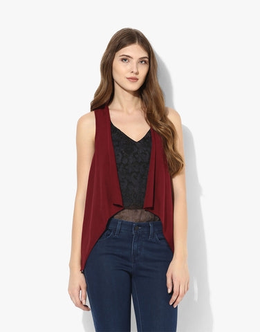 Burgundy Viscose Jersey Cover Up