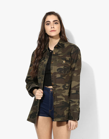 Camo Cotton Printed Jacket
