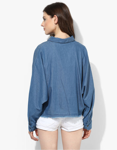 Denim Bat Wing Shirt