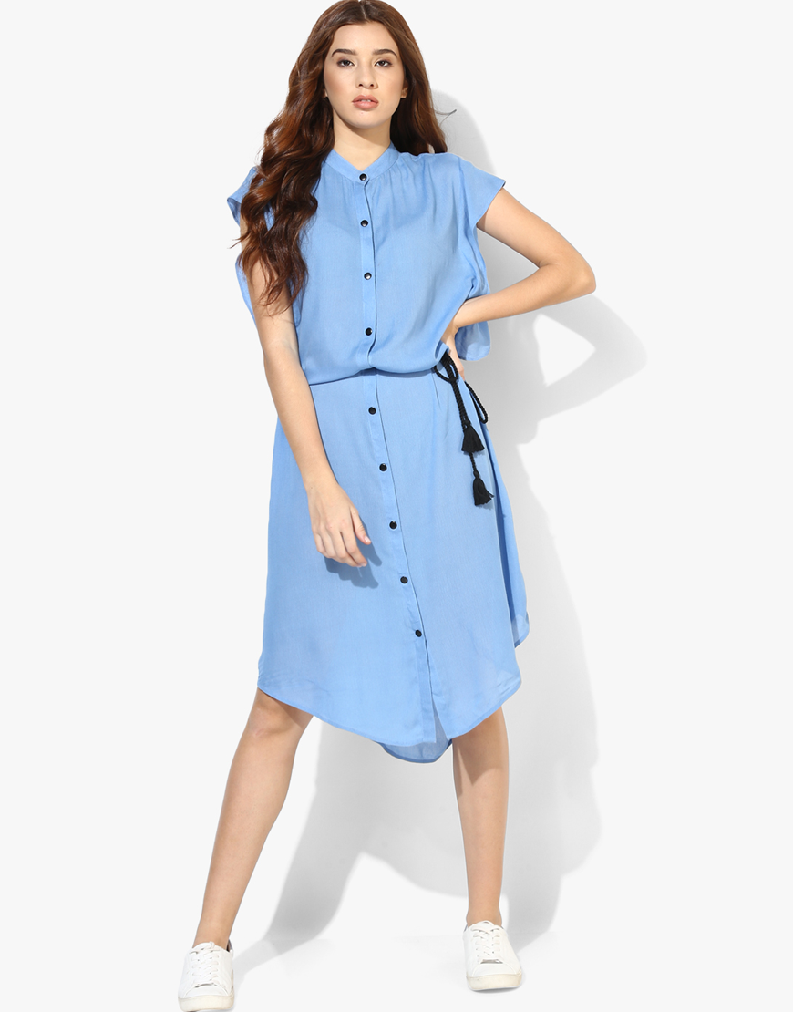 Flared Short Sleeve Dress