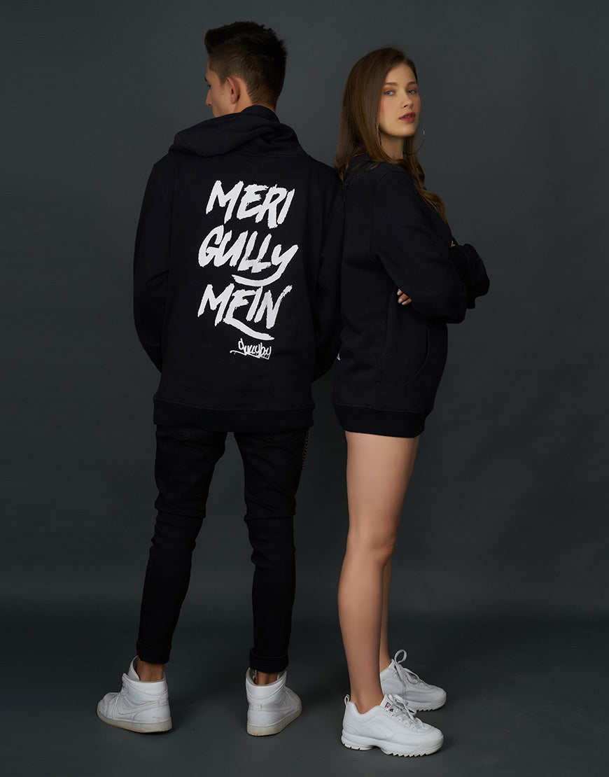 Hoodie with Meri Gully Mein Print at Back