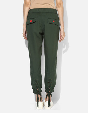 Joggers With Rivets And Lace Tieup Detail