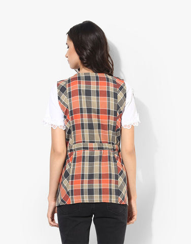 Multi Cotton Sleeveless Jacket