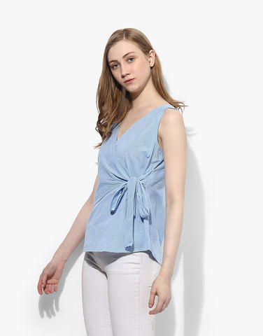 Multi Cotton Wrap Top