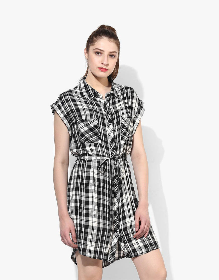 Multi Plaid Dress