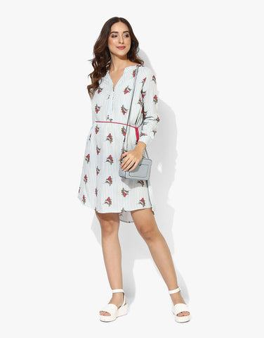 Multi Print Rayon Western Dress Shirt Online For Women