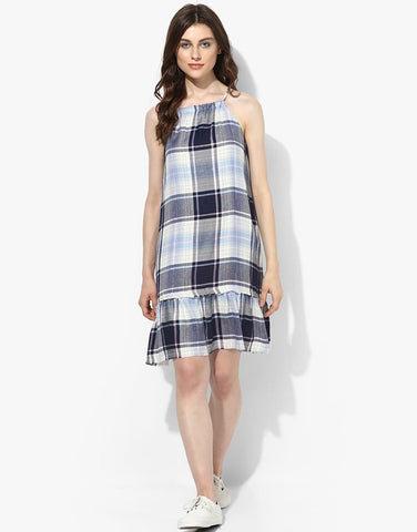 Multi Sleeveless Plaid Dress