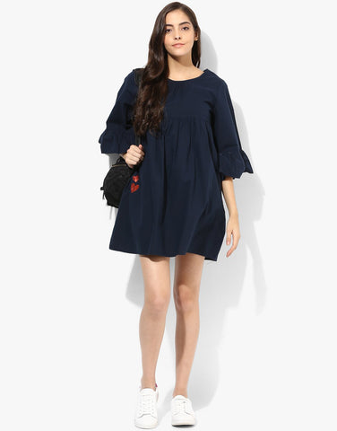 Navy Blue Romper Dress