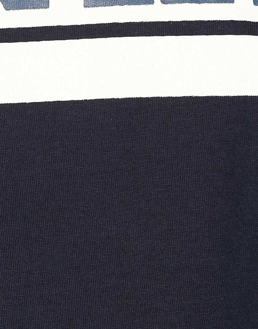 Navy Cotton Jersey Top