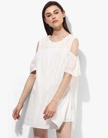 Off White Romper Dress