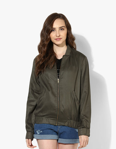 Olive Tencel Dragon Bomber