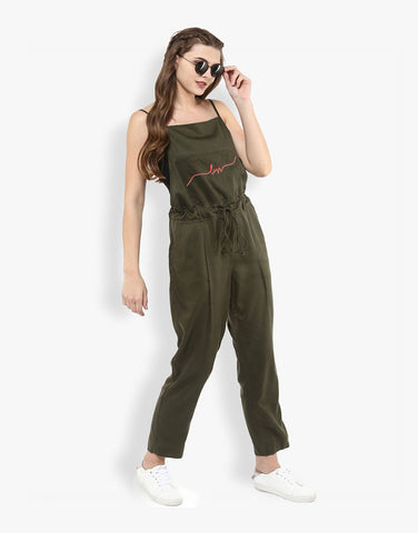 Olive Tencel Love Jumpsuit