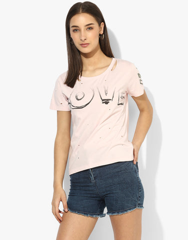 Pink Cotton Jearsy Top