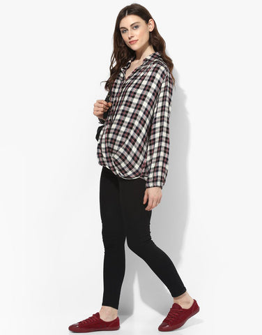 Plaid Wrap Top