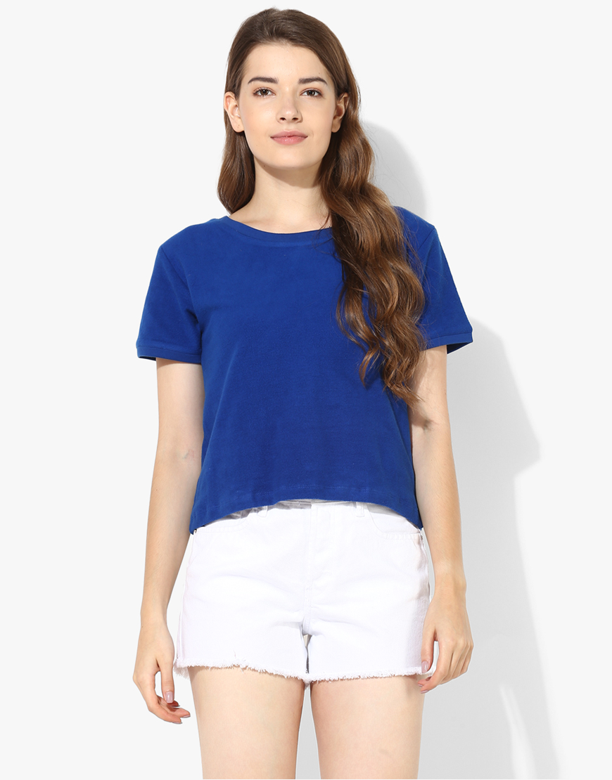 Short Sleeve Sweatshirt With Lace Detail
