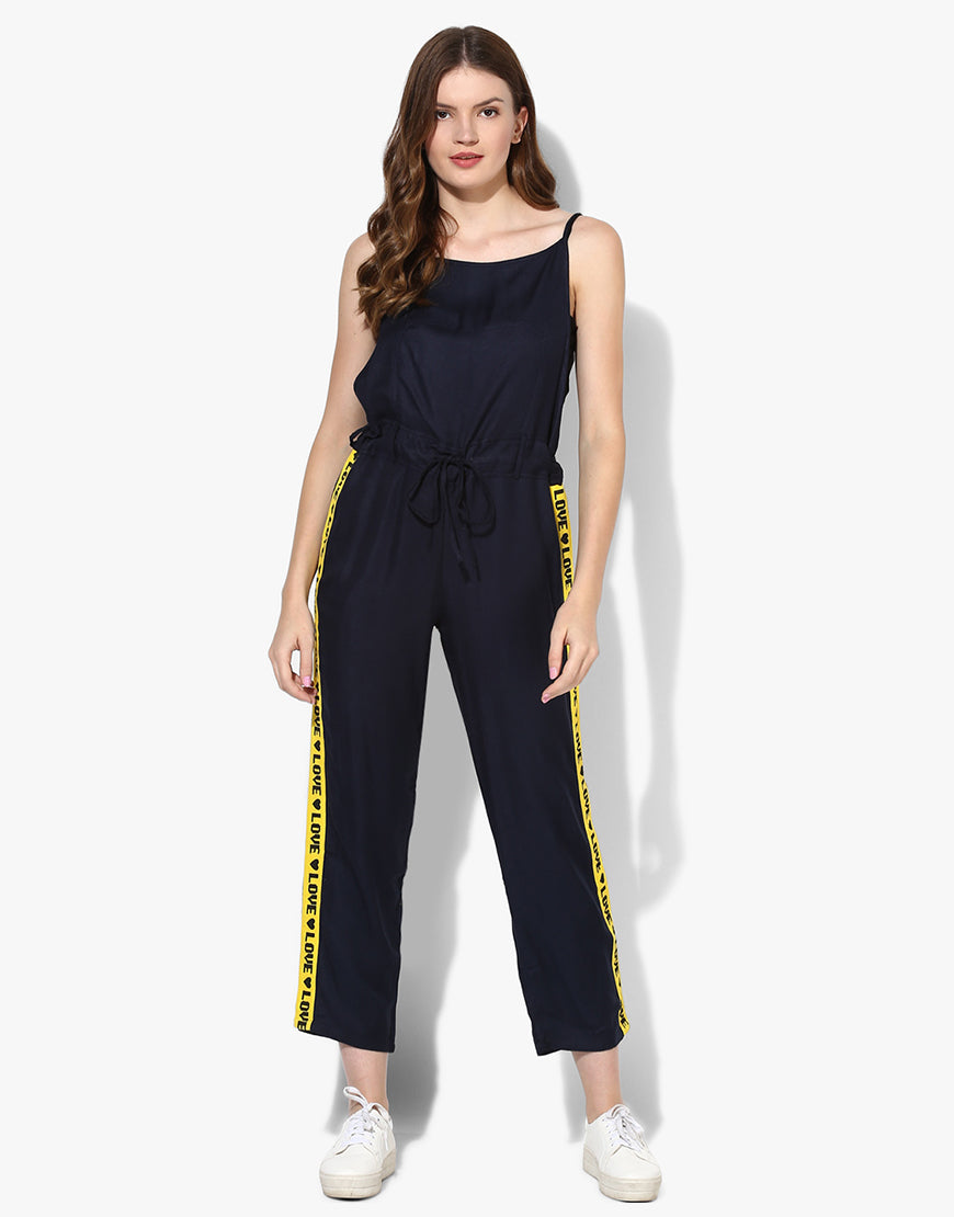 Strappy Jumpsuit With Love Tape
