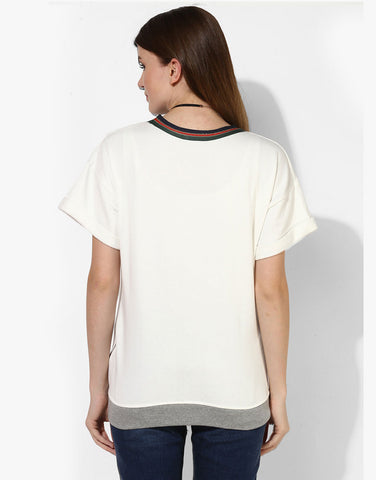 Short Sleeve Sweatshirt with Side Zipper