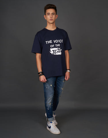 The Voice of the Gali Print Navy T-shirt