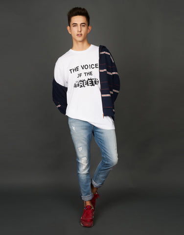 The Voice of the Streets Print White T-shirt
