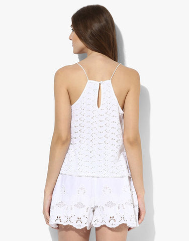 White Hakoba Strappy Playsuit