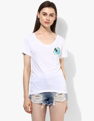 White Virgo Zodiac Sign Tee