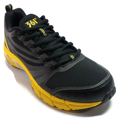 Men's 361 Air Arch-Lock Running Shoes Black/Yellow with EXTRA SHOE LACE - 361 Shoes - 361 Degrees Philippines