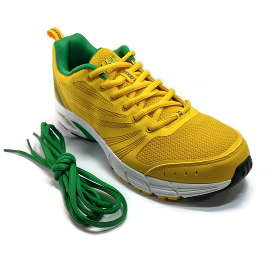 Men's 361 Air Arch-Lock Running Shoes Yellow/Green with EXTRA SHOE LACE - 361 Shoes - 361 Degrees Philippines
