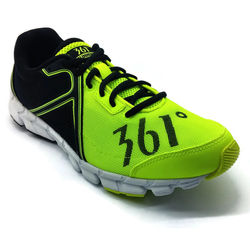 Men's 361 Feather Running Shoes Flash Yellow/Black - 361 Shoes - 361 Degrees Philippines