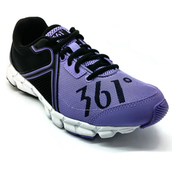 Women's 361 Feather Running Shoes Flash Purple/Black - 361 Shoes - 361 Degrees Philippines