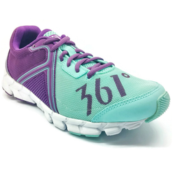 Women's 361 Feather Running Shoes Light Blue/Sunset Purple - 361 Shoes - 361 Degrees Philippines