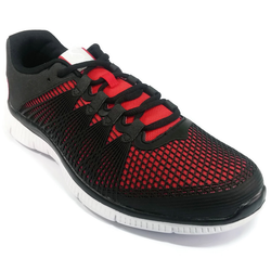 Men's 361 Fira Running Shoes Black/Red - 361 Shoes - 361 Degrees Philippines