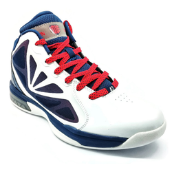 Men's 361 KL Nostalgia Basketball Shoes White/Blue/Red - 361 Shoes - 361 Degrees Philippines