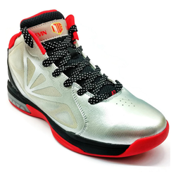 Men's 361 KL Nostalgia Basketball Shoes Silver/Red - 361 Shoes - 361 Degrees Philippines