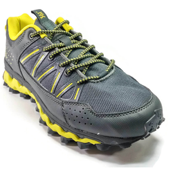 Men's 361 MastaOutdoor ArchLock Trail Running Shoes Dark Grey/Light Green - 361 Shoes - 361 Degrees Philippines