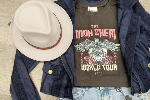 Vintage T Shirt with Jacket and Hat