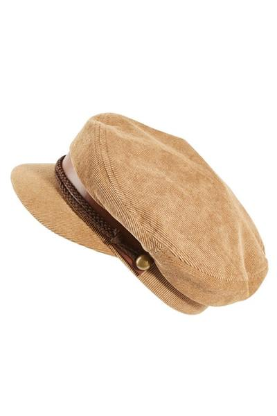 Ladies Fisherman Cap ~ Eden (Brown)