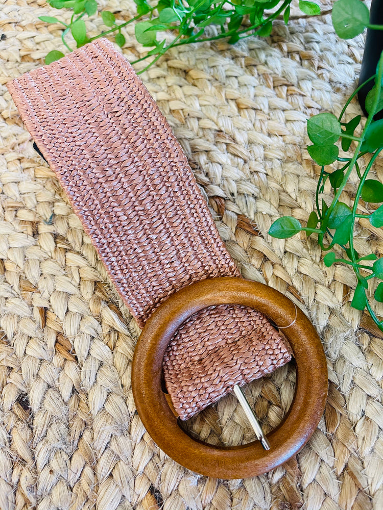 Stretch Belt ~ Caramel (Large Buckle)