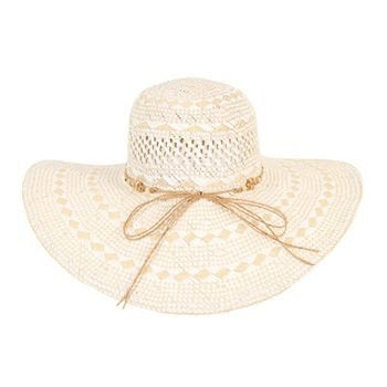 Ladies Wide Brim Hat ~ Marcoola (White)
