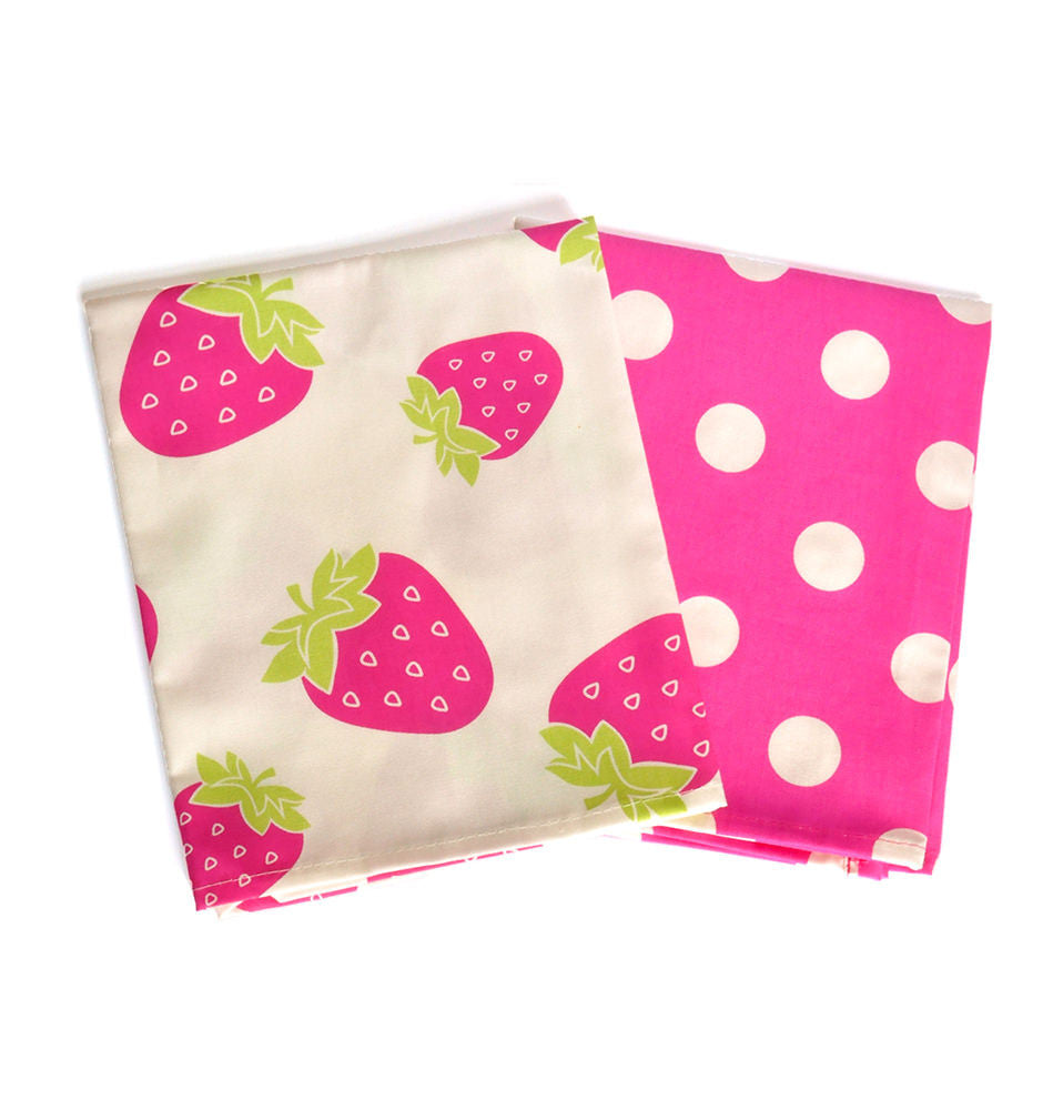 Strawberries And Dots Tea Towels Pack Breast Cancer Care