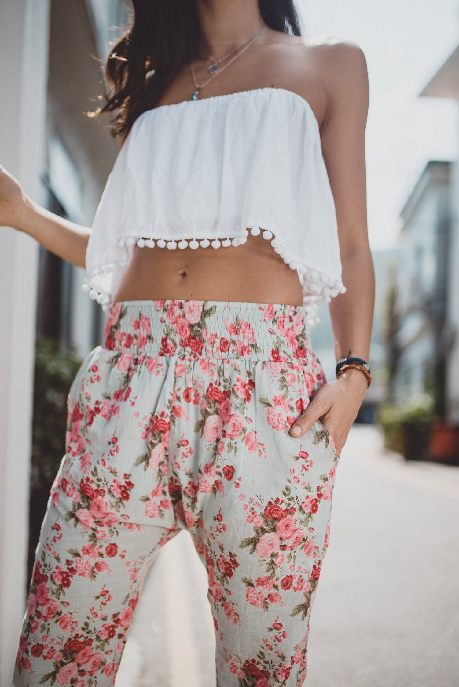 Shop Women Floral Harem Pants | Aanya Resortwear