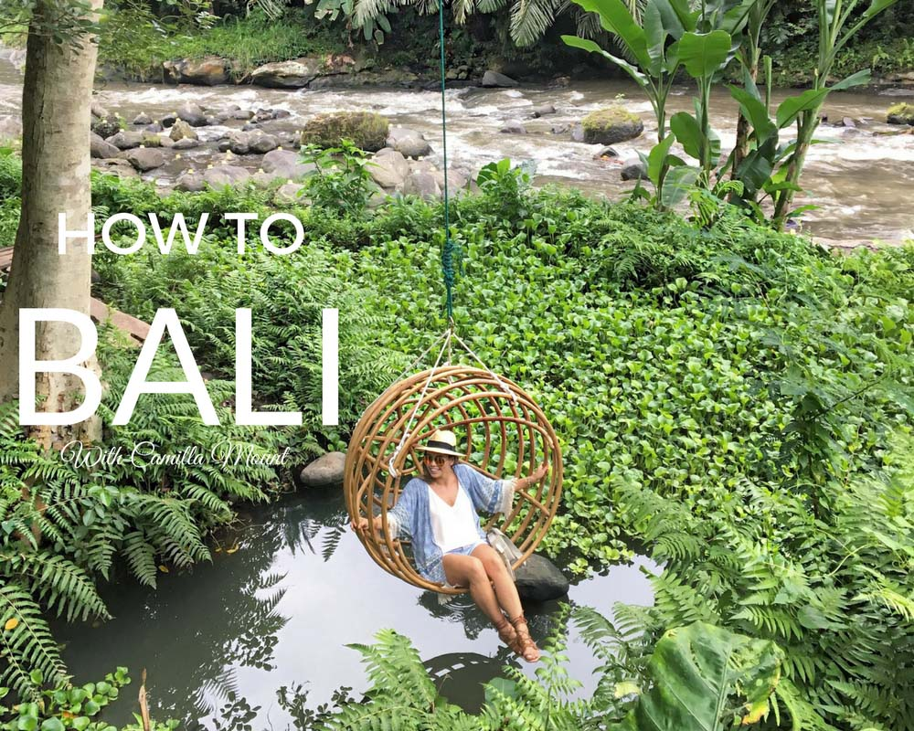Bali Sightseeing, Tourist Guide by Camilla Mount with Aanya Hong Kong